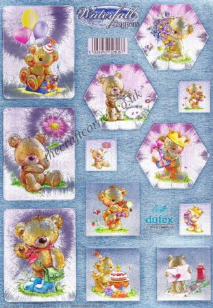 Teddy Bear Die Cut Waterfall Toppers from Dufex